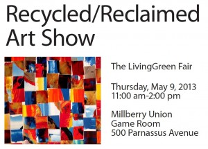recycled art flyer