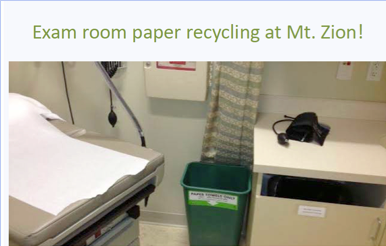 exam room paper recycling bin